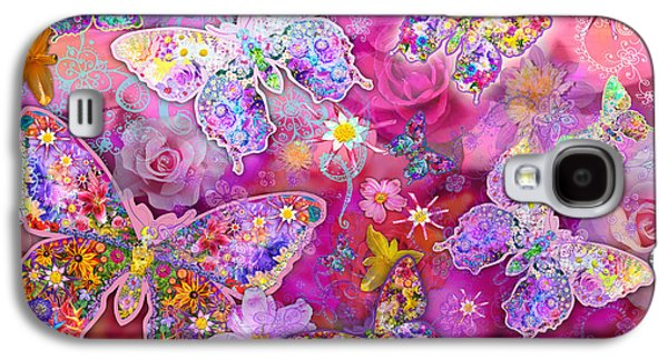 Harmonious Galaxy S4 Cases - Butterfly Flower Land Galaxy S4 Case by Alixandra Mullins