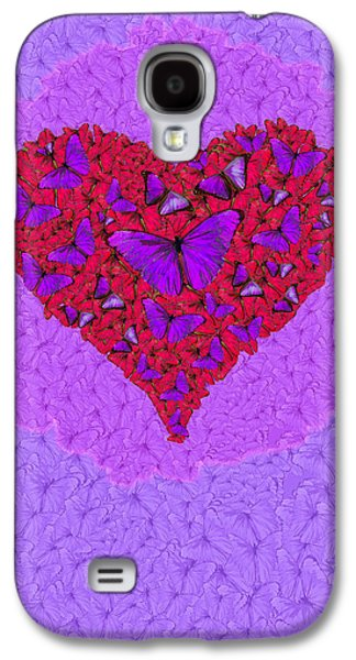 Abstract Nature Galaxy S4 Cases - Butterfly Heart Galaxy S4 Case by Alixandra Mullins
