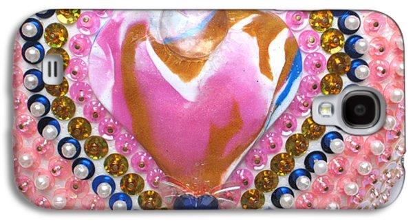 Butterflies Reliefs Galaxy S4 Cases - Butterfly-Heart detail Galaxy S4 Case by Heidi Sieber
