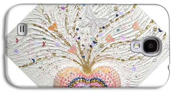 Butterflies Reliefs Galaxy S4 Cases - Butterfly-Heart Galaxy S4 Case by Heidi Sieber