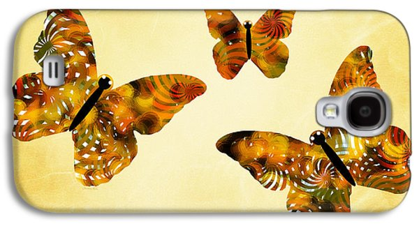 Rollosphotos Digital Art Galaxy S4 Cases - Butterfly Kisses Galaxy S4 Case by Christina Rollo