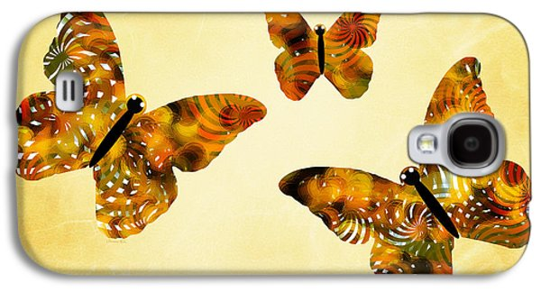Christina Digital Galaxy S4 Cases - Butterfly Kisses Galaxy S4 Case by Christina Rollo