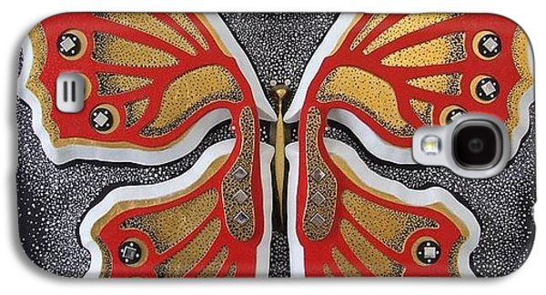 Butterflies Reliefs Galaxy S4 Cases - Butterfly Galaxy S4 Case by Marita Milkis