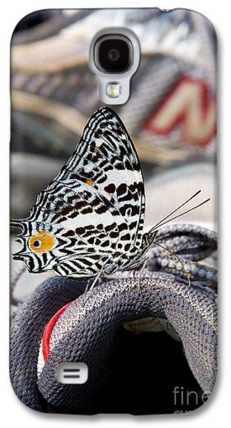 Sneaker Galaxy S4 Cases - Butterfly On Sneaker Galaxy S4 Case by Gregory G. Dimijian, M.D.