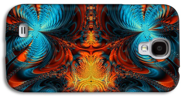 Algorithmic Abstract Galaxy S4 Cases - Butterfly Plasma  Galaxy S4 Case by Ian Mitchell