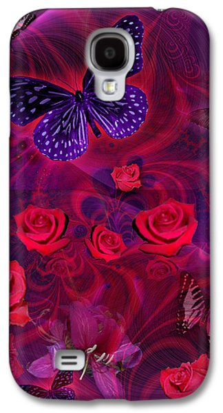Fantasy Photographs Galaxy S4 Cases - Butterfly Rose Galaxy S4 Case by Alixandra Mullins