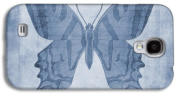 Butterfly Textures Cyanotype Galaxy S4 Case by John Edwards