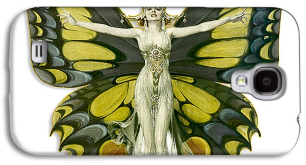 Digital Galaxy S4 Cases - Butterfly Woman Galaxy S4 Case by Gary Grayson