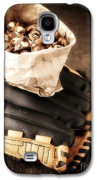 Baseball Glove Galaxy S4 Cases - Buy Me Some Peanuts and Cracker Jack Galaxy S4 Case by Edward Fielding
