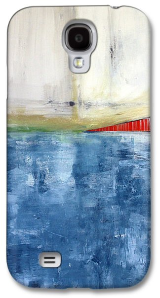 Abstract Landscape Galaxy S4 Cases - By The Bay- Abstract Art Galaxy S4 Case by Linda Woods