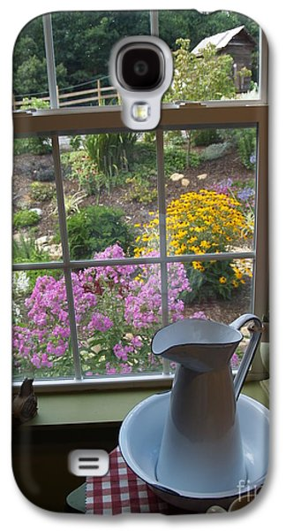 Old Pitcher Galaxy S4 Cases - By the Garden Window in North Carolina Galaxy S4 Case by Anna Lisa Yoder