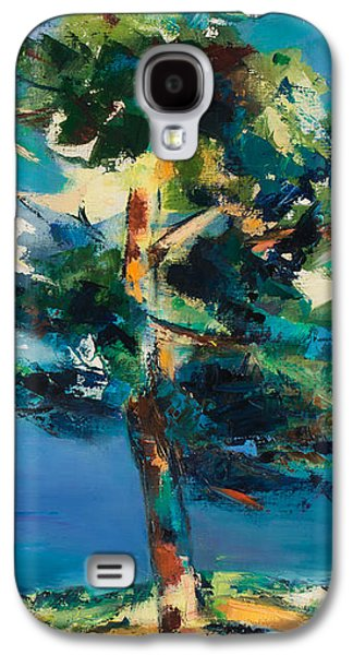 Snow Scene Landscape Paintings Galaxy S4 Cases - By the Lake Galaxy S4 Case by Elise Palmigiani