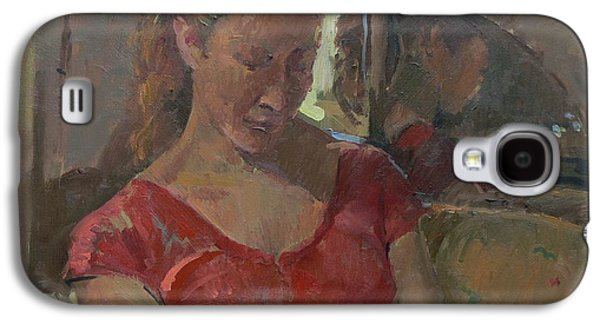 Sombre Galaxy S4 Cases - By The Old Mirror, 2009 Oil On Canvas Galaxy S4 Case by Pat Maclaurin