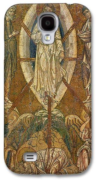 Jesus Christ Icon Galaxy S4 Cases - Byzantine icon depicting the transfiguration Galaxy S4 Case by Byzantine School