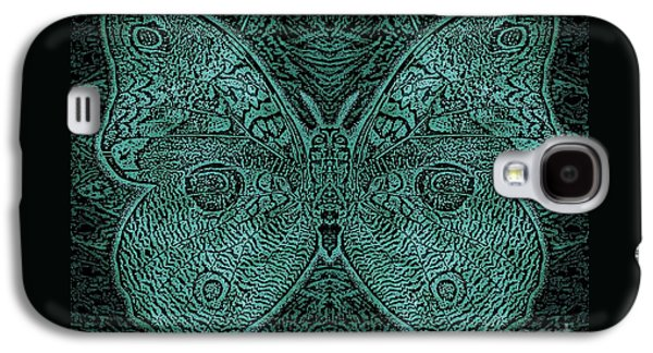 Earth Tones Drawings Galaxy S4 Cases - C Moth L3 Wd Midnight Green Galaxy S4 Case by Dale Crum