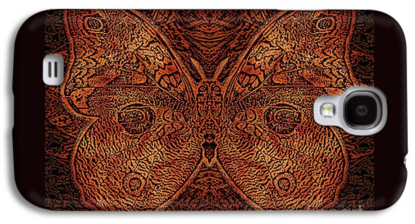 Earth Tones Drawings Galaxy S4 Cases - C Moth L3 Wd Red Galaxy S4 Case by Dale Crum