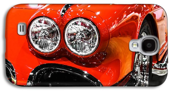 Sports Photographs Galaxy S4 Cases - C1 Red Chevrolet Corvette Picture Galaxy S4 Case by Paul Velgos