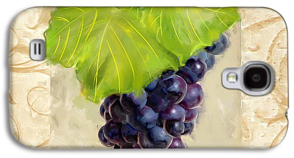 Grape Leaf Galaxy S4 Cases - Cabernet Sauvignon Galaxy S4 Case by Lourry Legarde