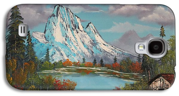 Bob Ross Paintings Galaxy S4 Cases - Cabin On The Lake Galaxy S4 Case by Bob Williams
