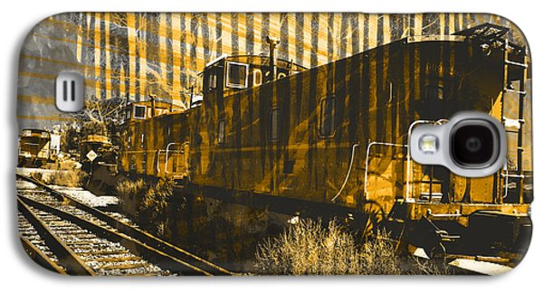 Old Relics Galaxy S4 Cases - Caboose Galaxy S4 Case by Robert Ball