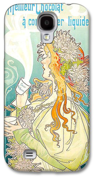 Posters Of Nudes Galaxy S4 Cases - Cacao Van Houten Galaxy S4 Case by Henri Pivat Livemont