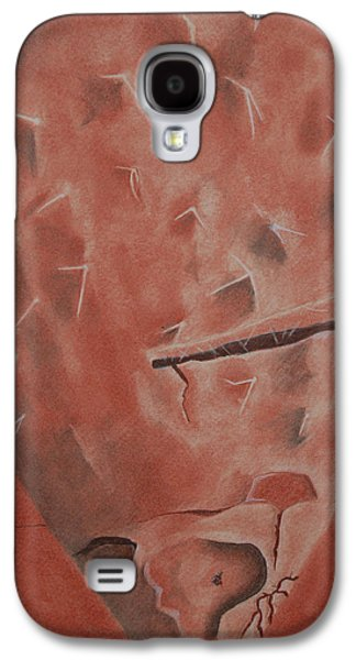 Tear Drawings Galaxy S4 Cases - Cactus Drawing Galaxy S4 Case by Gabe Arroyo