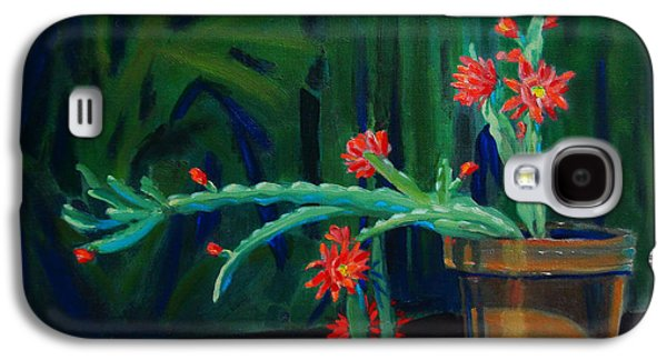 Still Life Sculptures Galaxy S4 Cases - Cactus in Bloom 1 Galaxy S4 Case by Dan Redmon