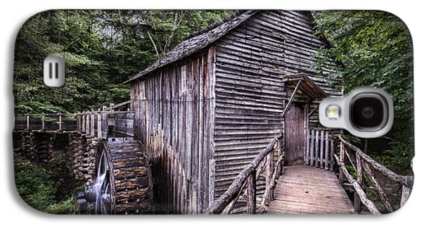 Old Mill Scenes Photographs Galaxy S4 Cases - Cades Cove Rustic Cable Mill  Galaxy S4 Case by Thomas Schoeller