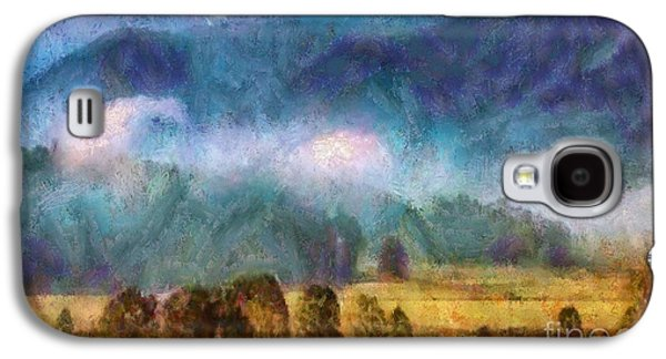 Smokey Mountains Paintings Galaxy S4 Cases - Cades Cove Tennessee  Galaxy S4 Case by Elizabeth Coats