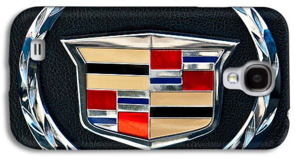Classic Cars Photographs Galaxy S4 Cases - Cadillac Emblem Galaxy S4 Case by Jill Reger