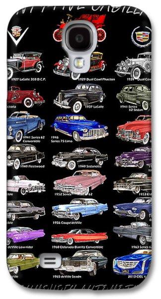 Watercolor Drawings Galaxy S4 Cases - Cadillac Poster  Galaxy S4 Case by Jack Pumphrey
