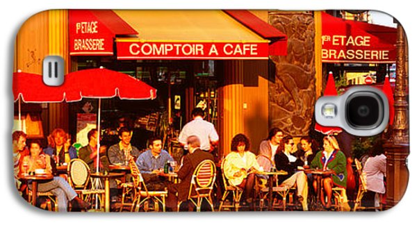 Coffee Drinking Galaxy S4 Cases - Cafe, Paris, France Galaxy S4 Case by Panoramic Images