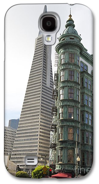 Francis Ford Coppola Galaxy S4 Cases - Cafe Zoetrope and Transamerica Bldg Galaxy S4 Case by David Bearden