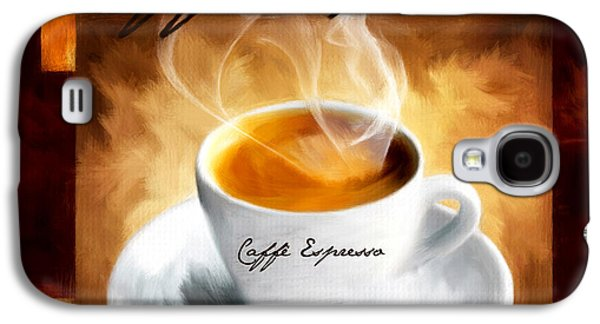 Dark Digital Art Galaxy S4 Cases - Caffe Espresso Galaxy S4 Case by Lourry Legarde