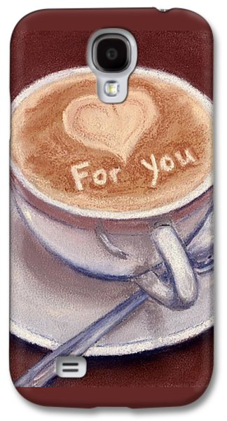Still Life Pastels Galaxy S4 Cases - Caffe Latte Galaxy S4 Case by Anastasiya Malakhova