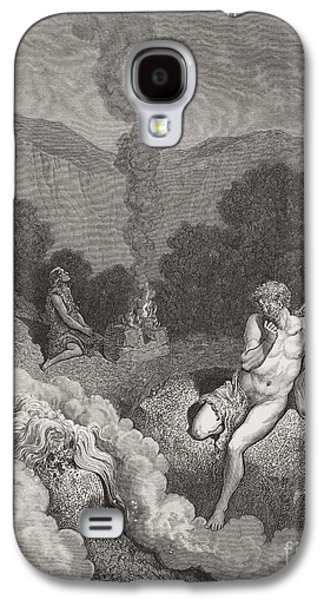 Religious Drawings Galaxy S4 Cases - Cain and Abel Offering Their Sacrifices Galaxy S4 Case by Gustave Dore