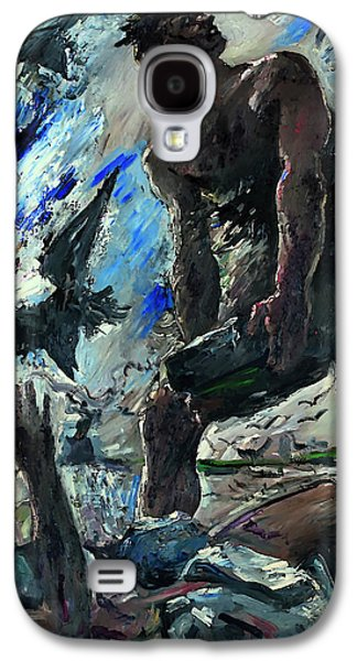 Christian work Paintings Galaxy S4 Cases - Cain Galaxy S4 Case by Lovis Corinth