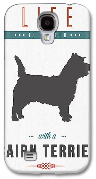 Puppies Mixed Media Galaxy S4 Cases - Cairn Terrier 01 Galaxy S4 Case by Aged Pixel