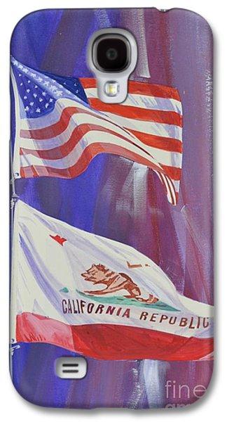 Democrat Mixed Media Galaxy S4 Cases - California Baby Galaxy S4 Case by Marco Ippaso