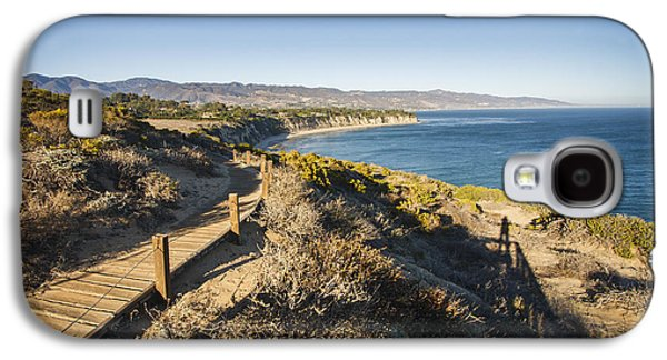 Landscapes Photographs Galaxy S4 Cases - California coastline from Point Dume Galaxy S4 Case by Adam Romanowicz