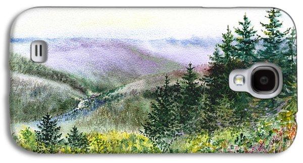 Beautiful Creek Paintings Galaxy S4 Cases - Redwood Creek National Park Galaxy S4 Case by Irina Sztukowski