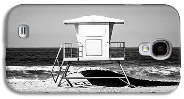 Pacific Ocean Prints Galaxy S4 Cases - California Lifeguard Tower Panoramic Picture Galaxy S4 Case by Paul Velgos