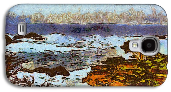 Nature Scene Digital Art Galaxy S4 Cases - California Seascape Galaxy S4 Case by Barbara Snyder