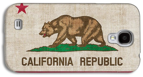 Californian Galaxy S4 Cases - California State flag Galaxy S4 Case by Pixel Chimp