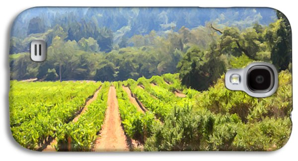 Pastoral Vineyards Galaxy S4 Cases - California Vineyard Wine Country 5D24518 Galaxy S4 Case by Wingsdomain Art and Photography