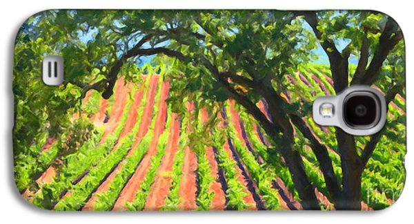 Pastoral Vineyards Galaxy S4 Cases - California Vineyard Wine Country 5D24519 long Galaxy S4 Case by Wingsdomain Art and Photography