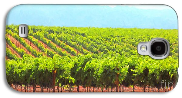 Pastoral Vineyards Galaxy S4 Cases - California Vineyard Wine Country 5D24623 long Galaxy S4 Case by Wingsdomain Art and Photography