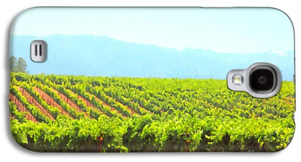 Pastoral Vineyards Galaxy S4 Cases - California Vineyard Wine Country 5D24623 Galaxy S4 Case by Wingsdomain Art and Photography