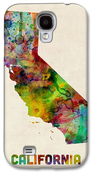 West Digital Art Galaxy S4 Cases - California Watercolor Map Galaxy S4 Case by Michael Tompsett