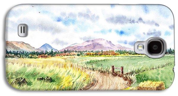 Mountain Paintings Galaxy S4 Cases - Californian Landscape Saint Johns Ranch of Mountain Shasta County Galaxy S4 Case by Irina Sztukowski